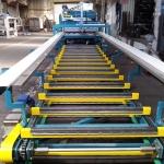 линия приёмного стола для металлочерепицы